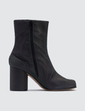 Maison Margiela Tabi Split-Toe Leather Ankle Boots In Reflective Fabric Picture