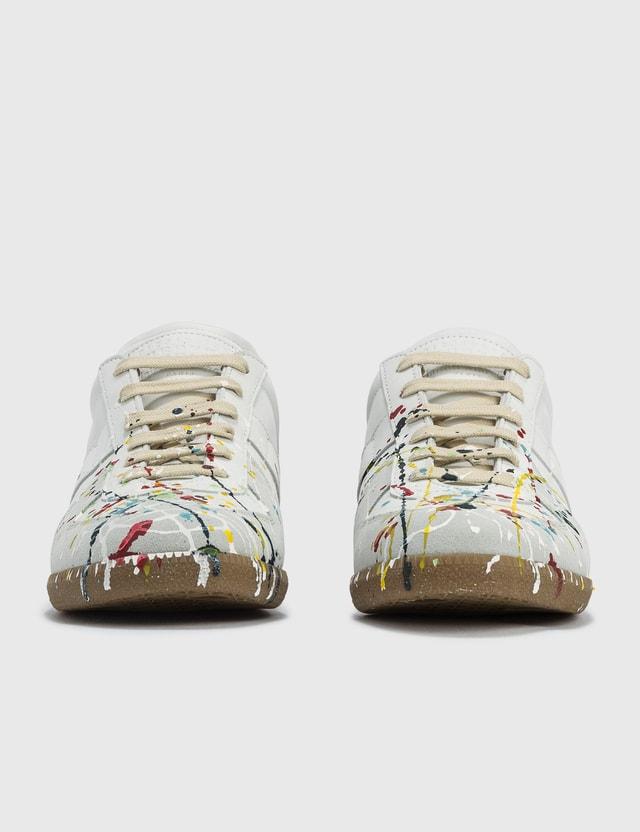Maison Margiela Replica Paint Drop Sneakers Off White/paint Men