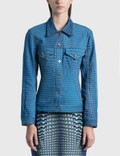 Marine Serre Moon Fish Skin Denim Jacket Picture