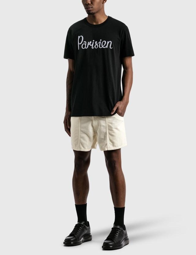 Maison Kitsune Parisien Classic 티셔츠 Black Men