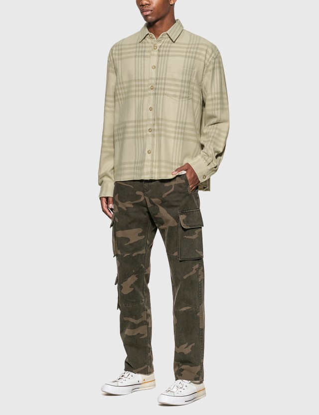 John Elliott Hemi Oversized Shirt Cinder Check Men