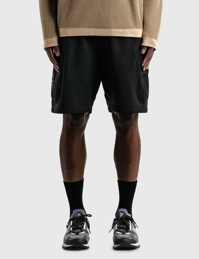 Stone Island Shadow Project Mesh Pocket Shorts Black Men