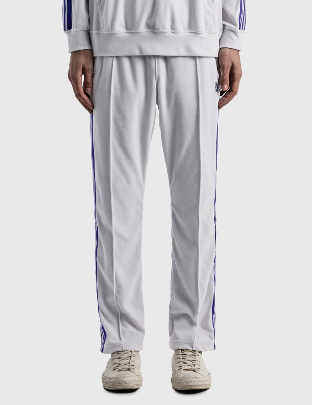 Needles C/PE Velour Narrow Track Pants White Men
