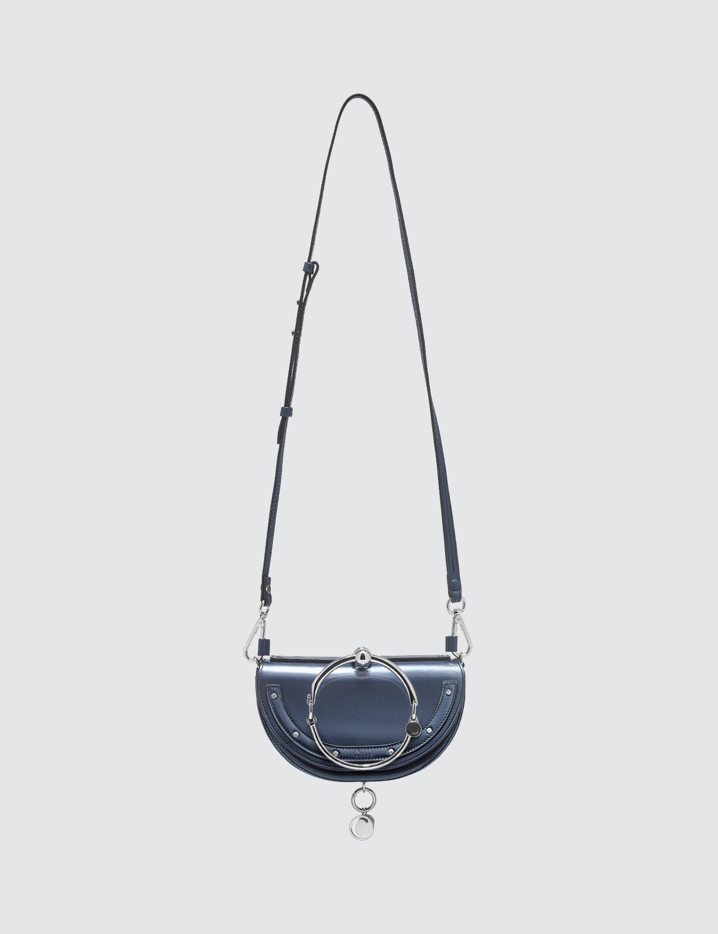 Patent leather Nile Minaudiu00e8re Bag