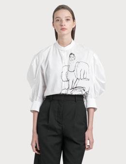 Alexander McQueen Sketch Effect Print Shirt
