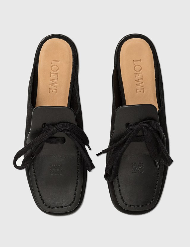 Loewe Lace Up Mule Black Women