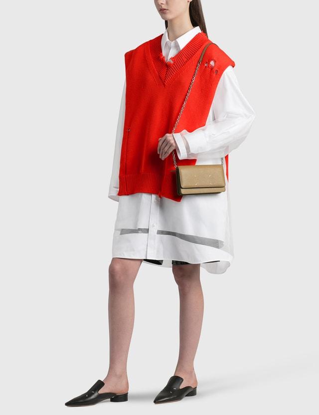 Maison Margiela Organza Shirt Dress Optic White Women