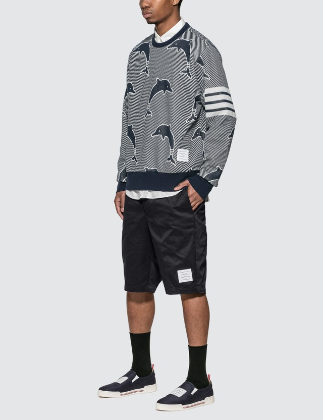 Thom Browne Half Drop Dolphin Sweatshirt