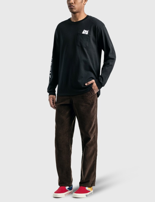 RIPNDIP Lord Nermal 포켓 긴소매 티셔츠 Black Men