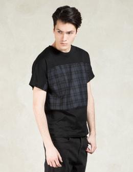 FACTOTUM Black S/S Color Block Patch T-Shirt