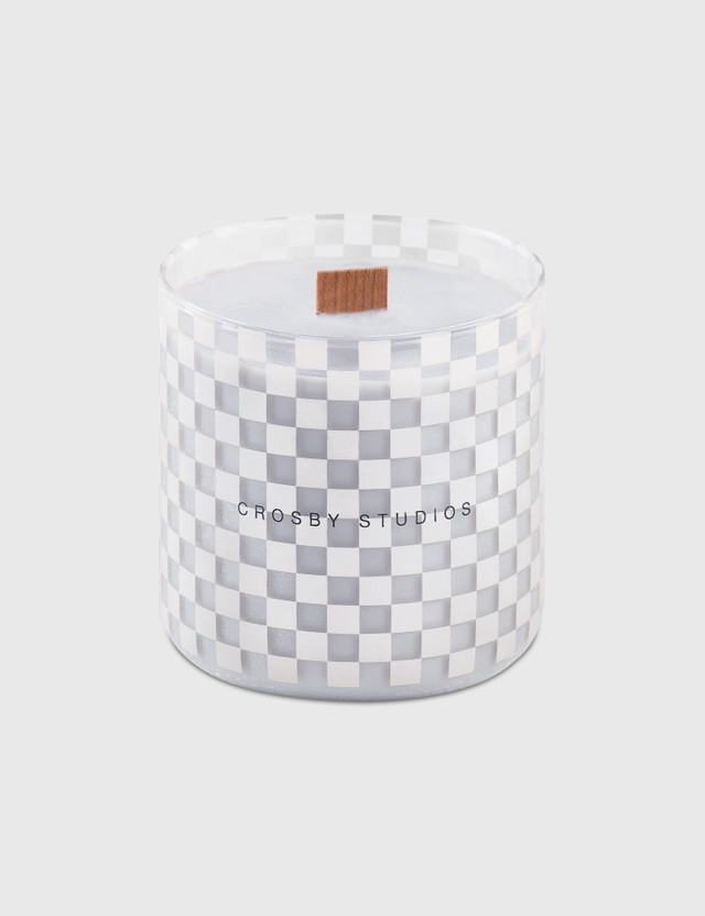Crosby Studios Gray Candle Collection Checkers Grey Unisex