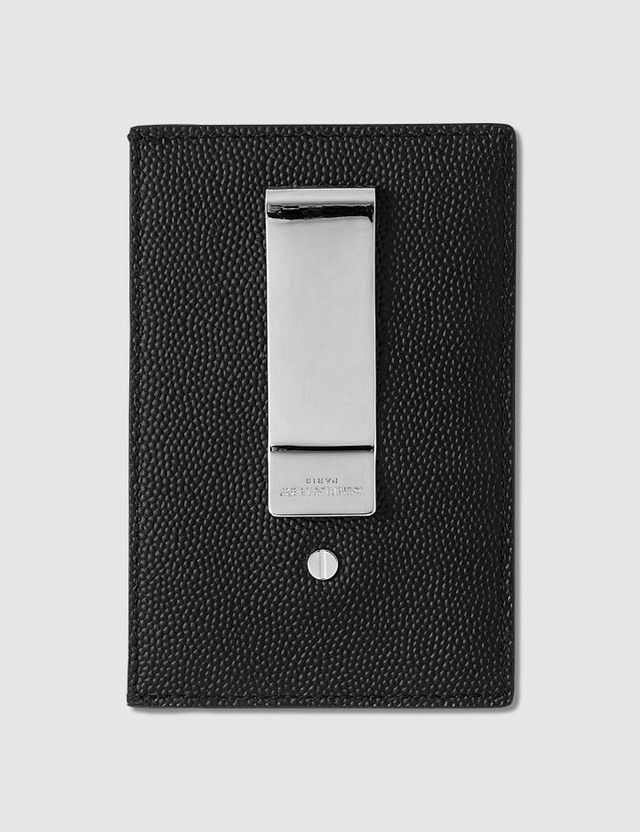 Saint Laurent Grain Leather Bill Clip Card Holder
