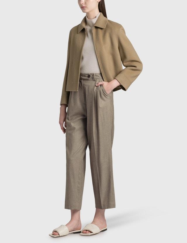 Nothing Written Cropped Wool Jacket Beige Women