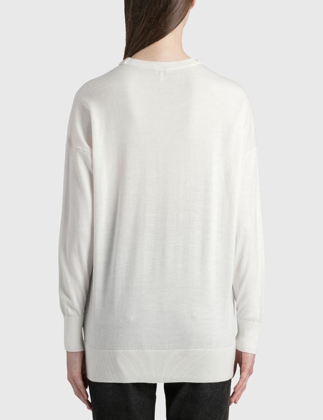Loewe Anagram Embroidered Sweater Ecru/brown Women