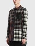 Loewe Check Patchwork Shirt Brown/grey Men