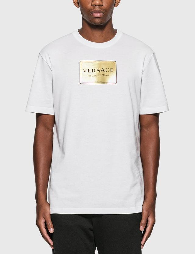 Versace Logo Plaque T-Shirt