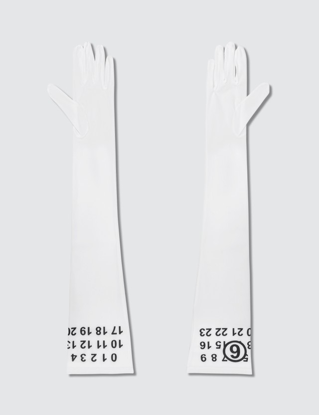 MM6 Maison Margiela Logo Long Gloves