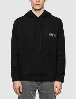 Off-White Logo Knit Hoodie