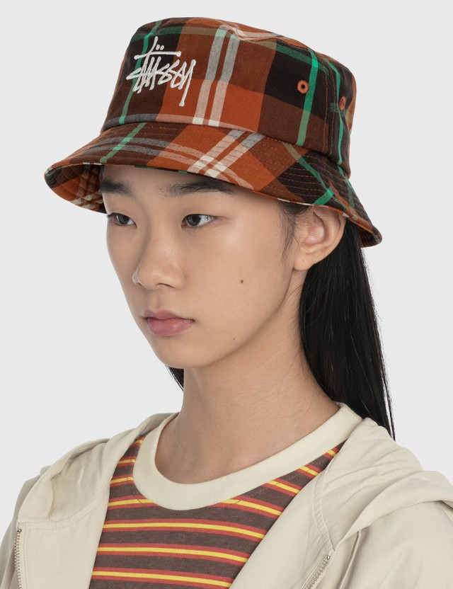 Stussy Big Logo Madra Bucket Hat Orange Women