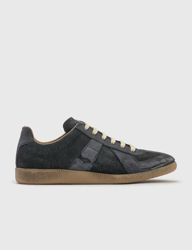 Maison Margiela Replica Low Top Sneakers Black Men