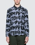 uniform experiment Patterned All Over Graffiti B.D Shirt Picture