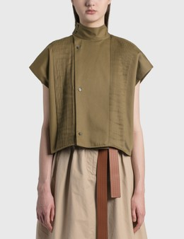 Loewe Cropped Pleated Blouse