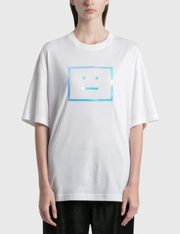 Acne Studios Exford Metallic Face Patch T-shirt