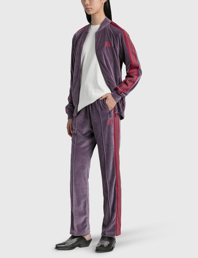 Needles C/PE Velour Narrow Track Pants Purple Women