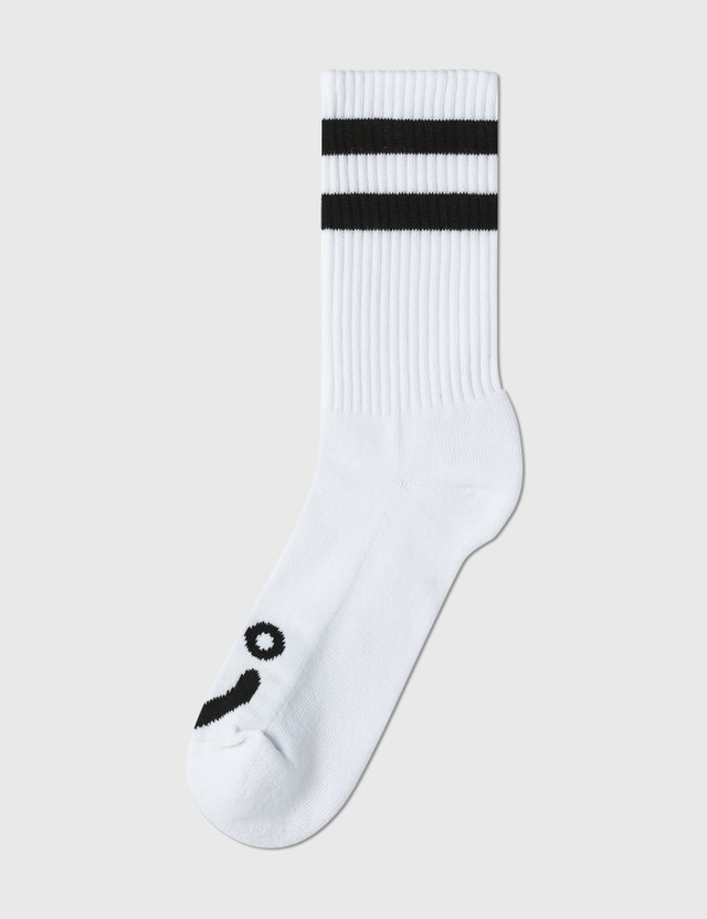 Polar Skate Co. Happy Sad Socks White  Men