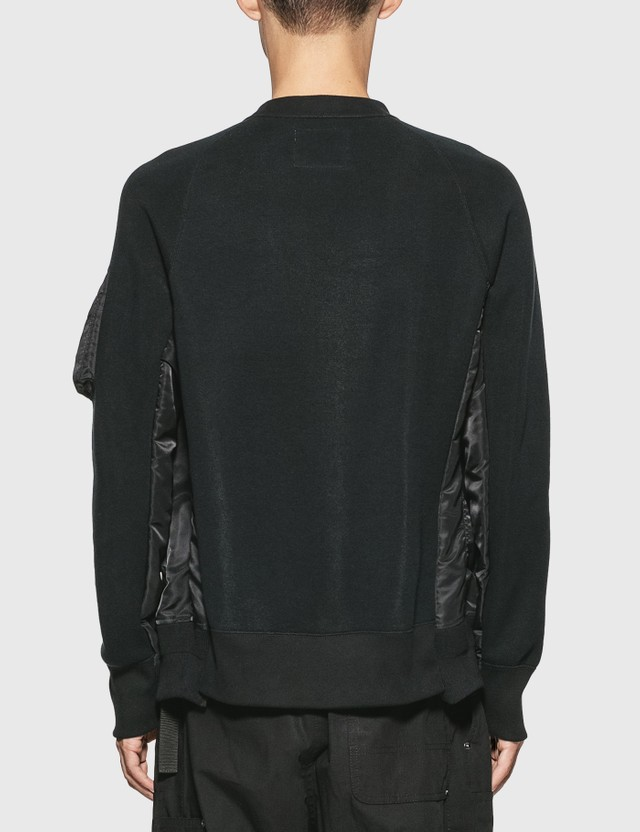 Sacai MA-1 Sponge Sweatshirt Black X Black Men