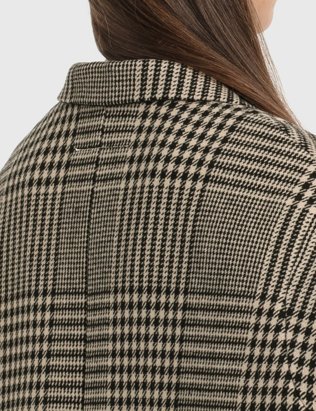MM6 Maison Margiela Circle Sleeveless Blazer In Shetland Check Wool Princess Of Galles Women