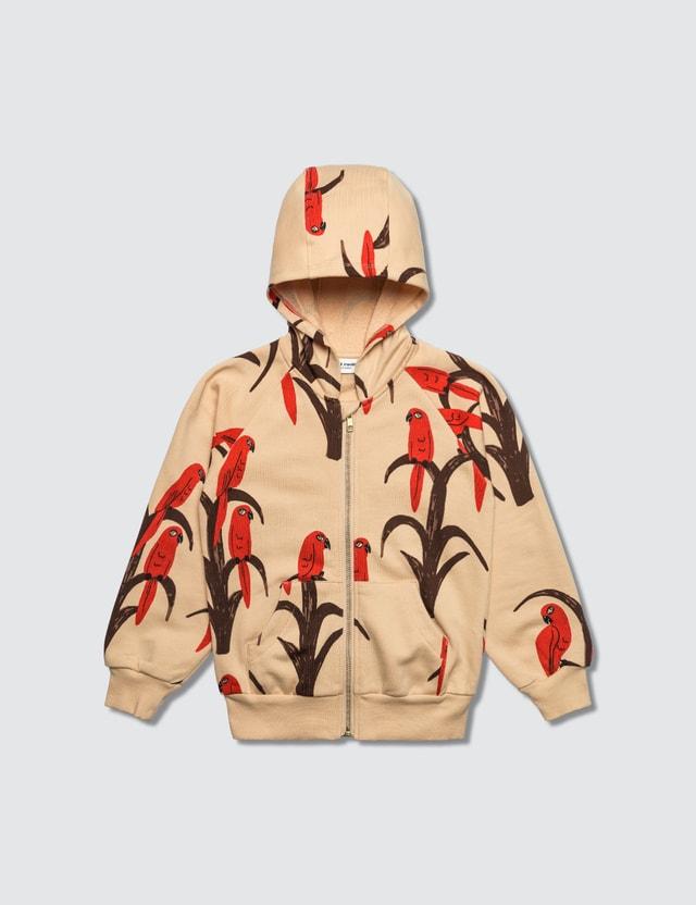 Mini Rodini Parrot Aop Zip Hoodie