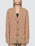 Burberry Monogram Wool Cashmere Blend Oversized Cardigan Picture