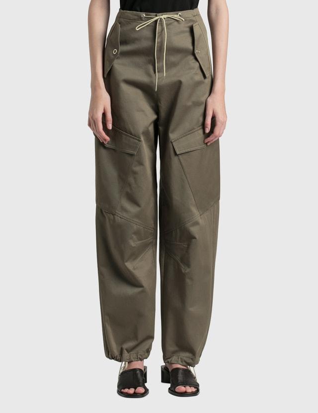Dion Lee Parachute Cargo Pants Ash Green Women