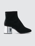 MM6 Maison Margiela Velvet Cube Heel Boots Picutre