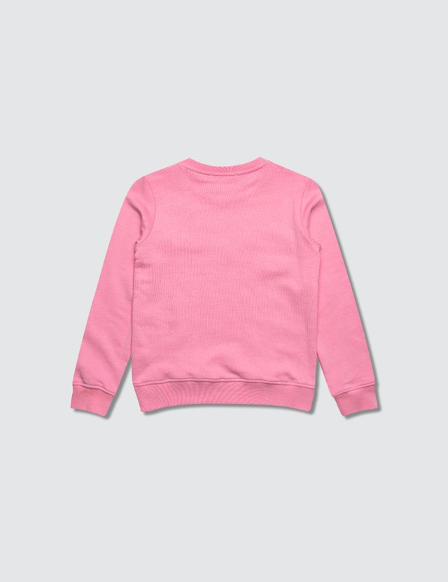 MSGM Pink Embroidered Logo Print Sweater