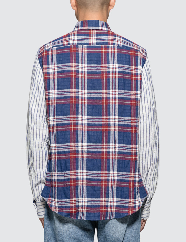 Loewe Patchwork Sleeve Check Shirt