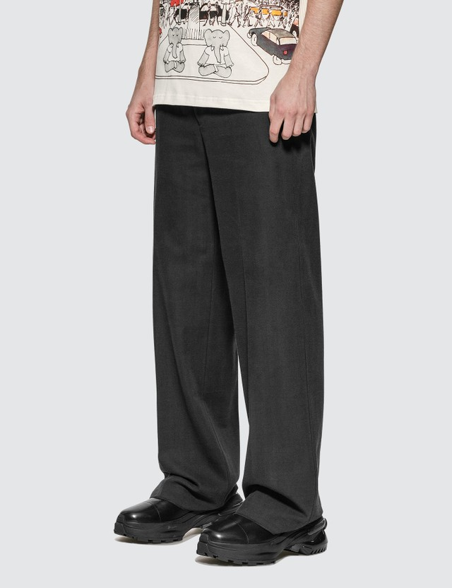 Lanvin Wide-leg Tailored Pants Navy Blue Men