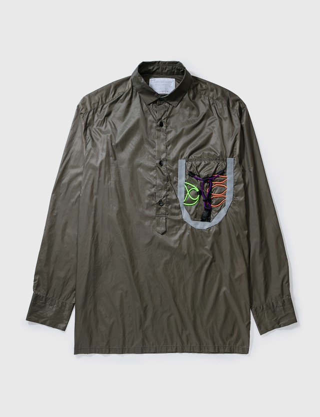 Kolor Kolor Nylon Pullover Shirt Kahki Archives