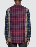 Burberry 멀티컬러 체크 셔츠 Navy Pattern Men