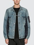 Sacai MA-1 Denim Jacket Picutre