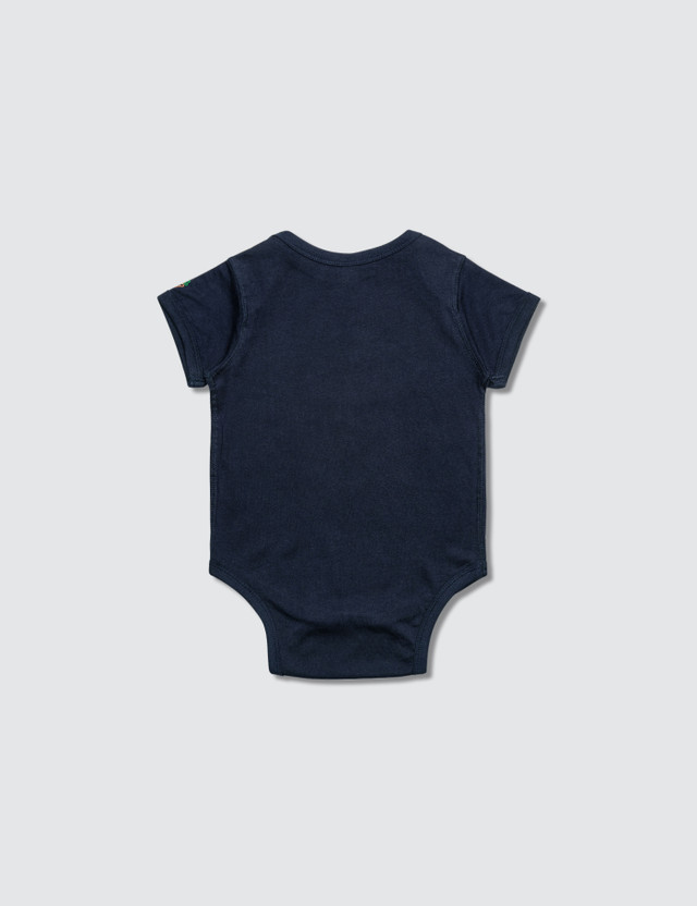 Carrots Baby Carrots Wordmark Onesie Navy Kids