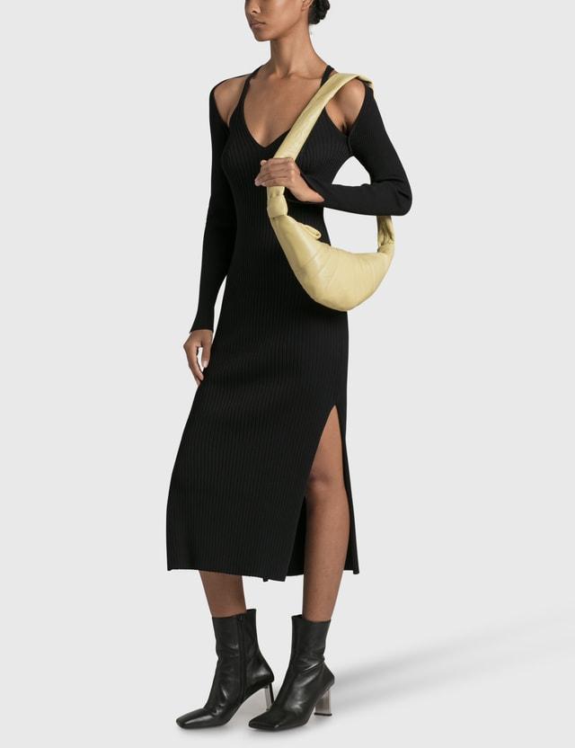 Jonathan Simkhai Esperanza Compact Cut Out Shawl Dress Black Women