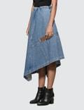 Loewe Asymmetric Denim Skirt