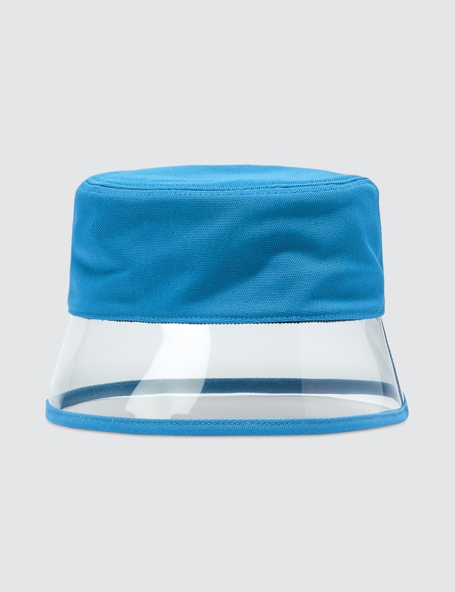 Prada PVC Brim Bucket Hat in Blue