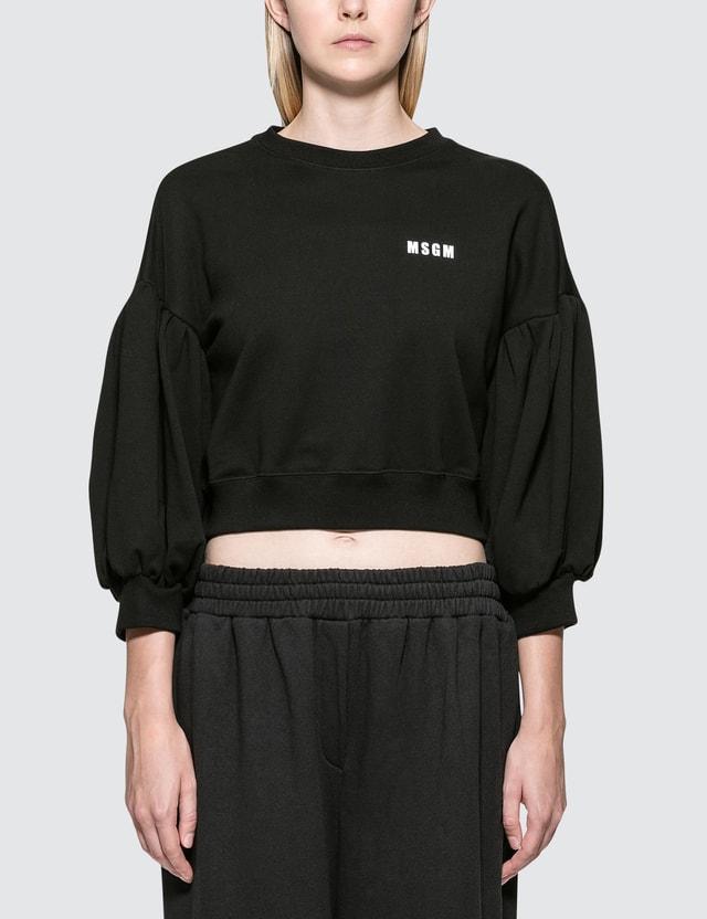 "MSGM ""M"" Bejeweled Sweatshirt"