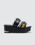 Toga Pulla Leather Mix Platform Sandals Picture