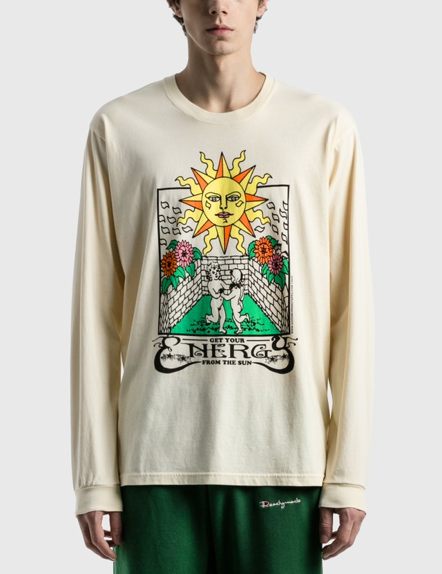 Good Morning Tapes Energy From The Sun Long Sleeve T-Shirt Natural Men