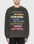 We11done Front Logo Sweatshirt