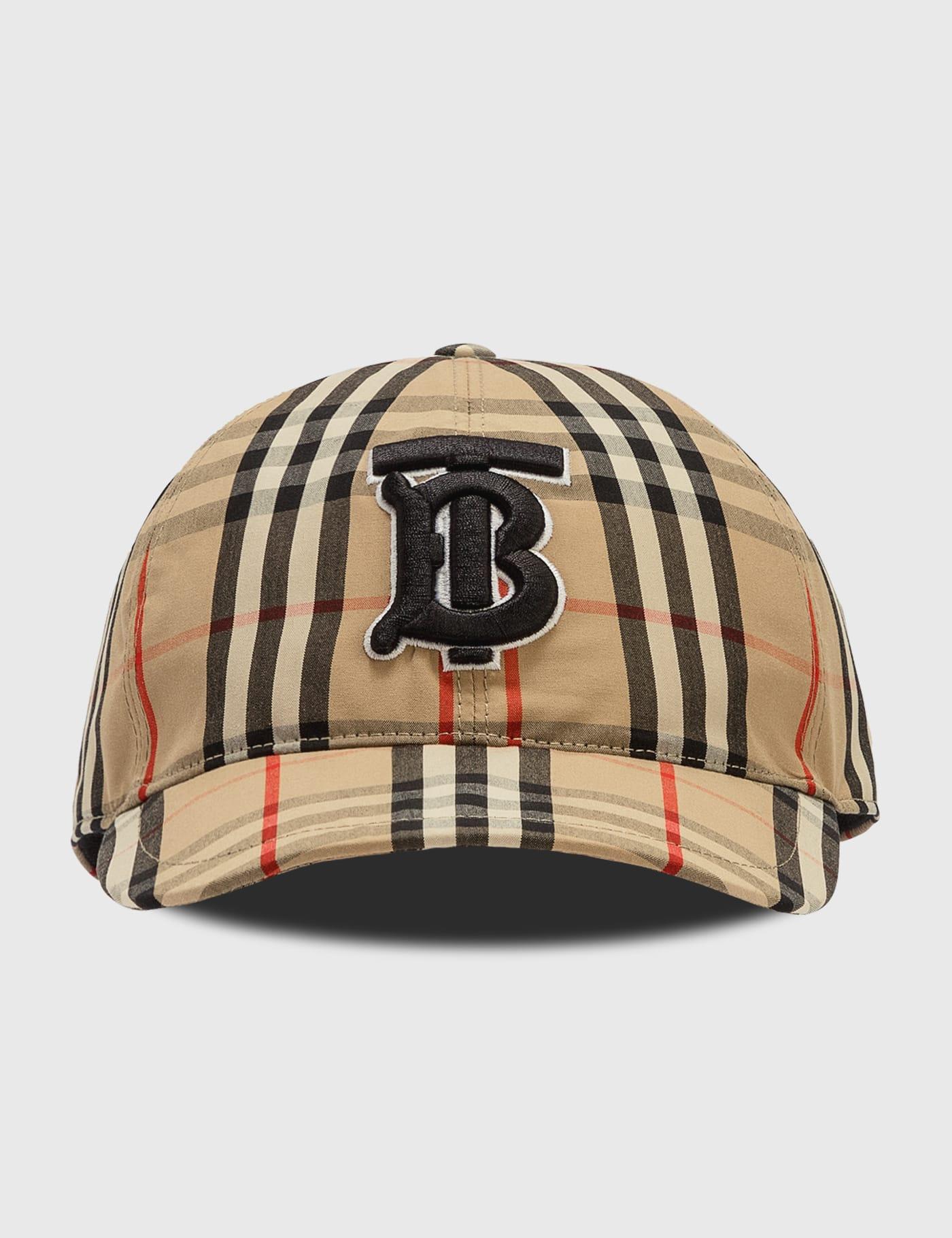 버버리 Burberry Monogram Motif Vintage Check Baseball Cap